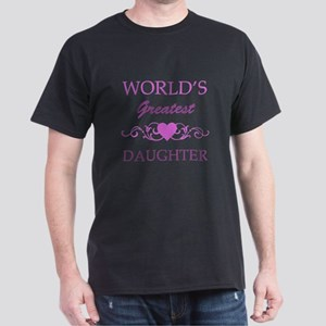 World's Greatest Daughter (purple) Dark T-Shirt