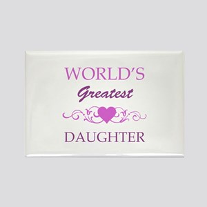 World's Greatest Daughter (purple) Rectangle Magne