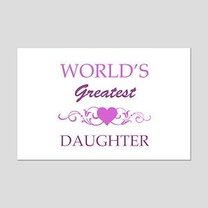 World's Greatest Daughter (purple) Mini Poster Pri