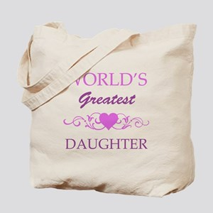 World's Greatest Daughter (purple) Tote Bag