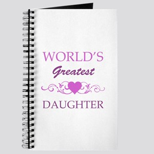 World's Greatest Daughter (purple) Journal