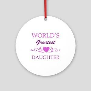 World's Greatest Daughter (purple) Ornament (Round