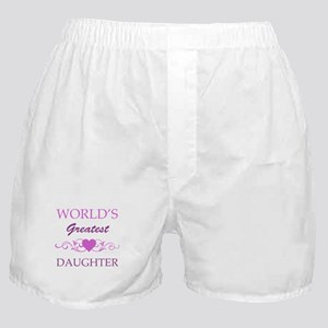World's Greatest Daughter (purple) Boxer Shorts
