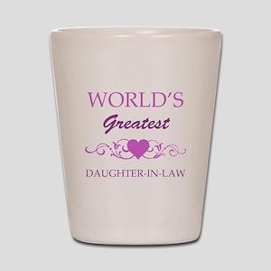 World's Greatest Daughter-In-Law (purple) Shot Gla