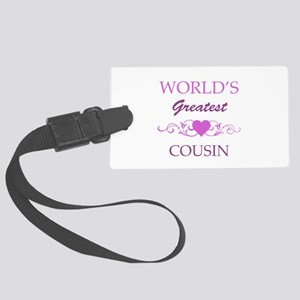 World's Greatest Cousin (purple) Large Luggage Tag