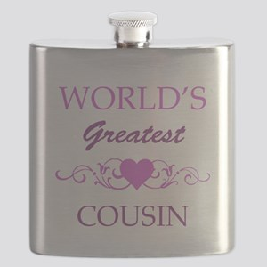 World's Greatest Cousin (purple) Flask