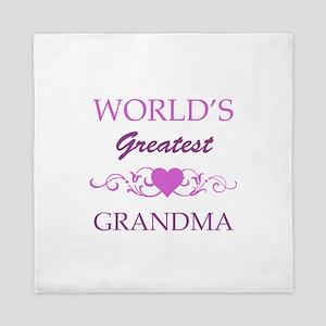 World's Greatest Grandma (purple) Queen Duvet