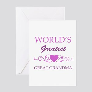 World's Greatest Great Grandma (purple) Greeting C