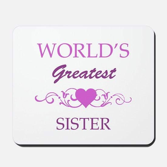 World's Greatest Sister (purple) Mousepad