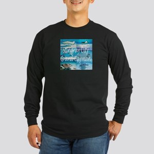 Stingray City Grand Cayman Long Sleeve Dark T-Shir