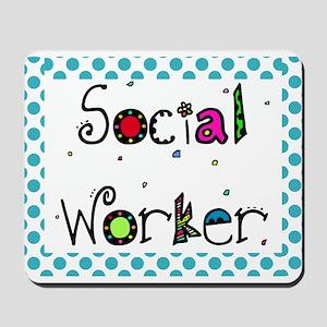 social worker POLKA DOTS Mousepad