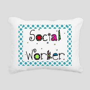 social worker POLKA DOTS Rectangular Canvas Pillow