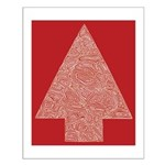 Arrow Tree Red Small Poster