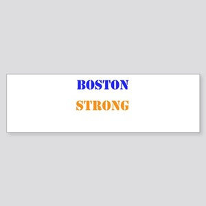 Boston Strong Print Bumper Sticker
