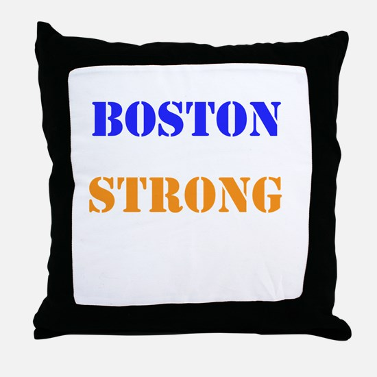 Boston Strong Print Throw Pillow