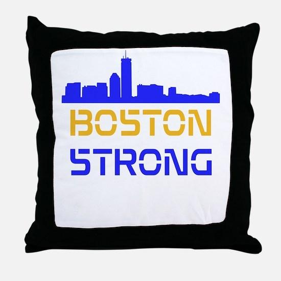 Boston Strong Skyline Multi-Color Throw Pillow