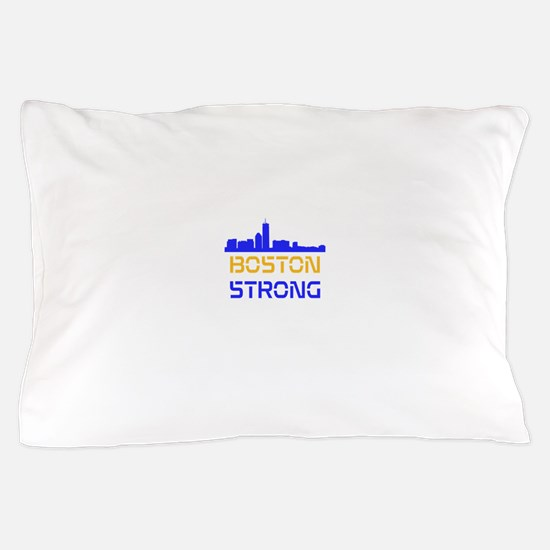 Boston Strong Skyline Multi-Color Pillow Case