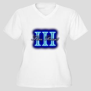 Three Percent Clear Glow Plus Size T-Shirt