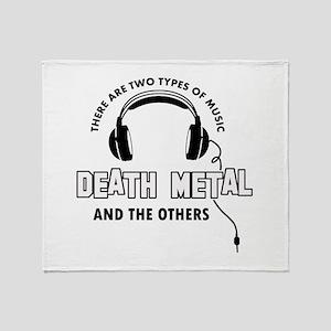 Death Metal lover designs Throw Blanket
