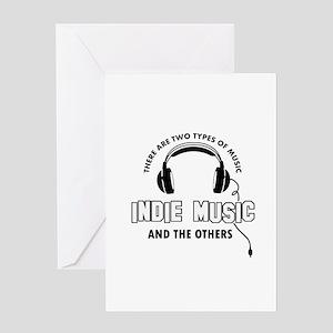 Indie Music lover designs Greeting Card