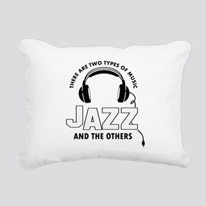 Jazz lover designs Rectangular Canvas Pillow