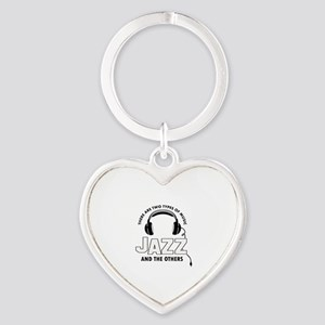 Jazz lover designs Heart Keychain