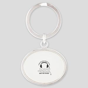 Jazz lover designs Oval Keychain