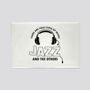 Jazz lover designs Rectangle Magnet