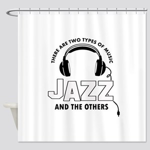 Jazz lover designs Shower Curtain
