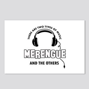 Merengue lover designs Postcards (Package of 8)