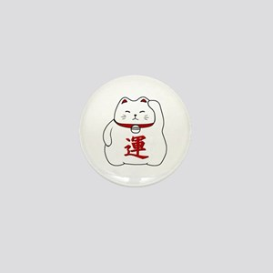 Lucky Cat Mini Button
