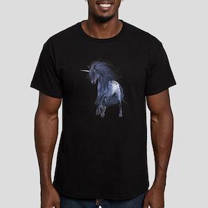 Blue Unicorn 1 Men's Fitted T-Shirt (dark)