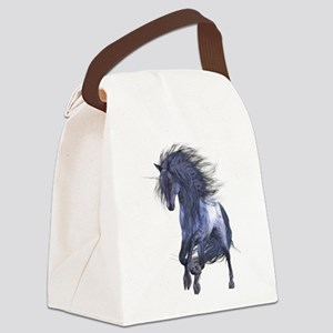 Blue Unicorn 1 Canvas Lunch Bag