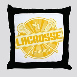 #1 Lacrosse Grandma Throw Pillow
