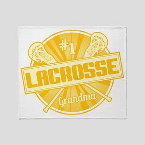 #1 Lacrosse Grandma Throw Blanket