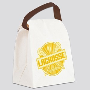 #1 Lacrosse Grandma Canvas Lunch Bag