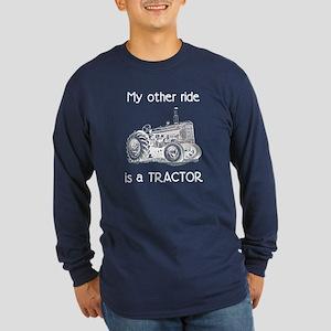 Ride a Tractor Long Sleeve Dark T-Shirt