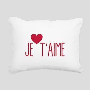 Je taime Rectangular Canvas Pillow