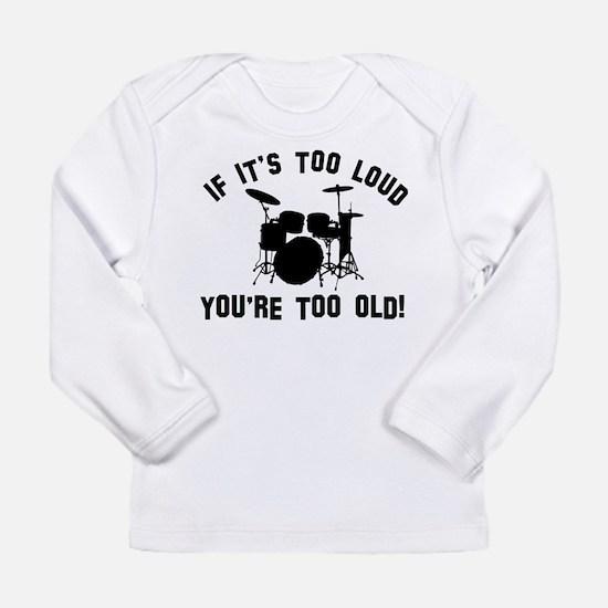 Drum Vector designs Long Sleeve Infant T-Shirt
