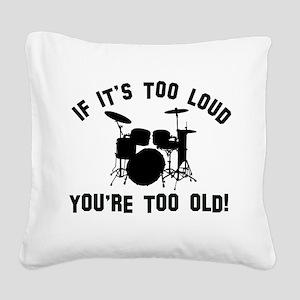 Drum Vector designs Square Canvas Pillow