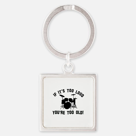 Drum Vector designs Square Keychain