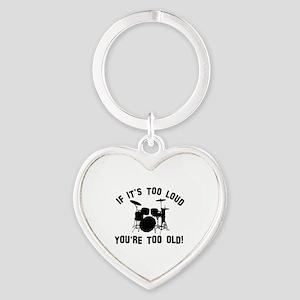 Drum Vector designs Heart Keychain