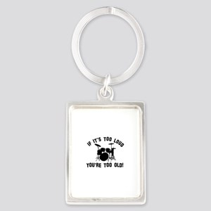 Drum Vector designs Portrait Keychain