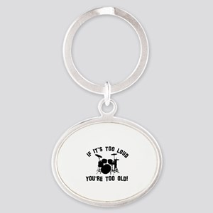 Drum Vector designs Oval Keychain