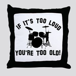 Drum Vector designs Throw Pillow