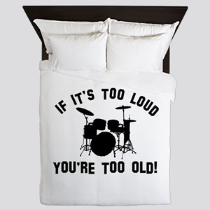 Drum Vector designs Queen Duvet