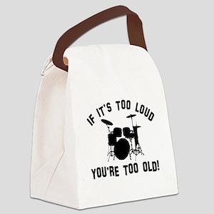 Drum Vector designs Canvas Lunch Bag