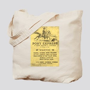 Pony Express Poster Tote Bag