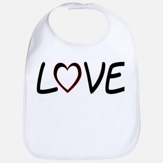 Heart Shaped Love Bib