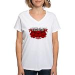 Australian Fighter MMA Women's V-Neck T-Shirt